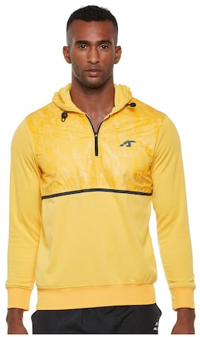ALCIS MEN YELLOW TRAIN CAMOU HOODIE