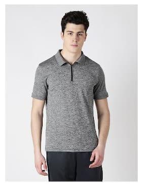 Alcis Men Polo Neck Sports T-Shirt - Black