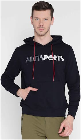 Alcis Mens Black Printed Sweat Shirt