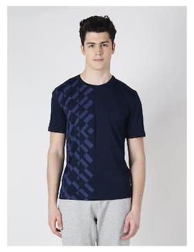 Alcis Men Round Neck Sports T-Shirt - Blue