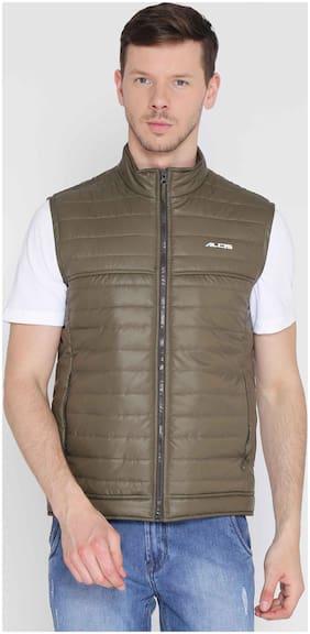Alcis Men Polyester Jacket - Dark Green