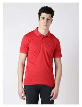 Alcis Men Polo Neck Sports T-Shirt - Red