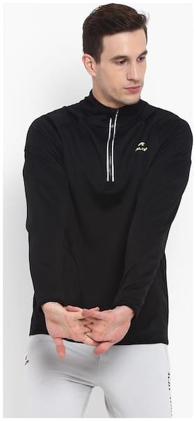 Alcis Men Polyester Sweatshirt - Black