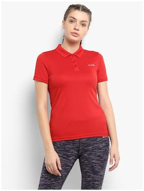 Women Regular Fit Polyester Sports T-Shirts