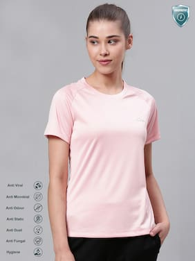 Women Slim Fit Polyester Sports T-Shirts