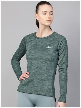 Women Self Design Sweatshirt