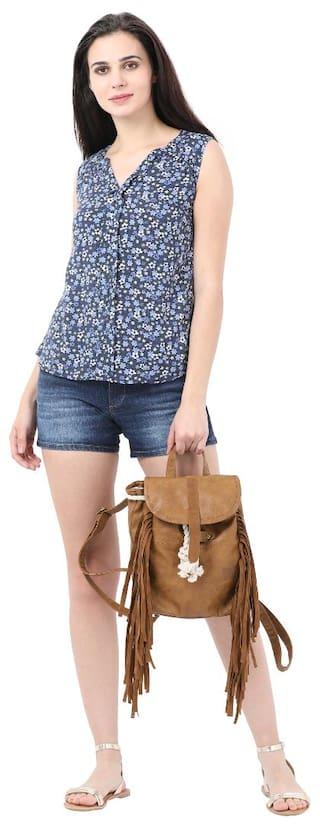 for Women Blue Alibi Mid Thigh Shorts FFInR