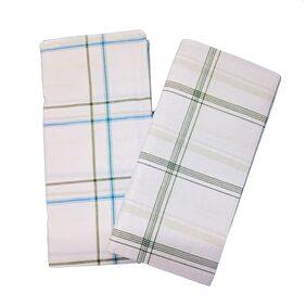 aliflaila Cotton Checked Regular Dhoti Dhoti - White
