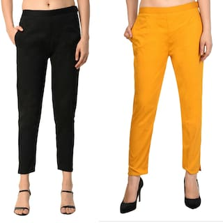 and Lycra Trousers Colors;Sizes 15 Girls;PLUS Cotton ALISHAH for COMBO M;L;XL;XXL;XXXL Women UqOnw
