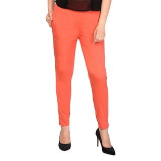 ALISHAH Cotton Lycra Trousers for Women and Girls;Plus 15 Colors;Sizes:-M;L;XL;XXL;XXXL
