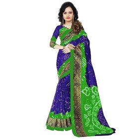 Alka Fashion Color Blue and Green Fabric Cotton Silk With Blouse Pices