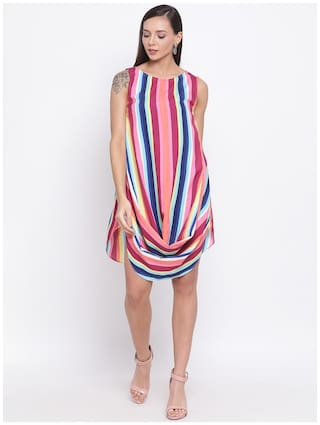 All Ways You Multi Striped Fit & flare dress