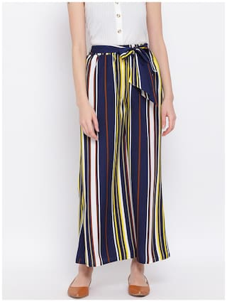 All Ways You Multi Striped Flared Palazzo