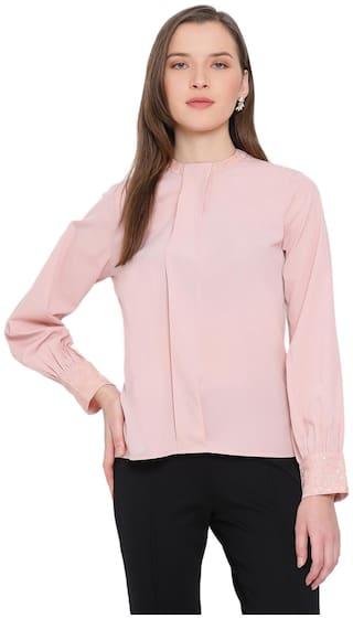 All Ways You Women Solid Regular top - Pink