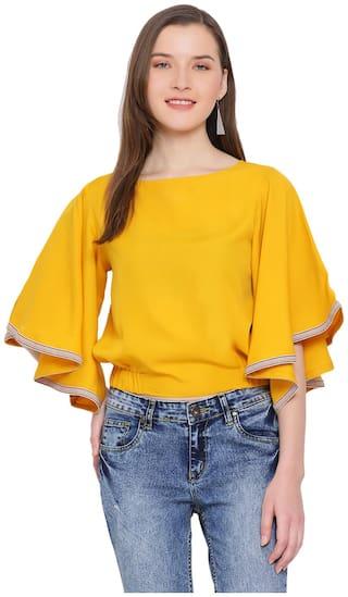 All Ways You Women Solid Regular top - Yellow