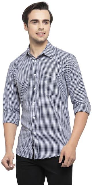 Allen Cooper Men Assorted Checked Slim Fit Casual Shirt