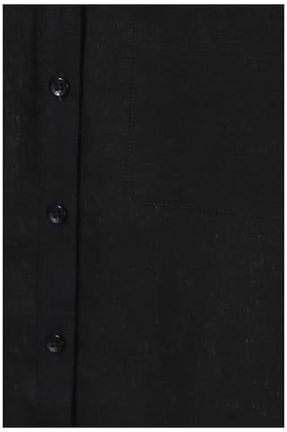 Allen Solly Linen Black Textured Regular Fit Casual Shirt