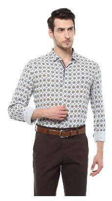 Allen Solly Men Slim Fit Casual shirt - Grey