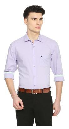 Allen Solly Men Slim Fit Formal Shirt - White