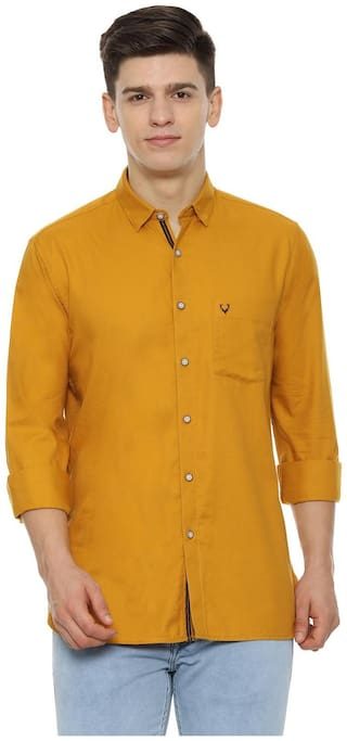 Allen Solly Men Slim fit Casual shirt - Yellow