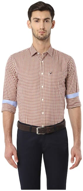 Men Slim Fit Checked Formal Shirt Pack Of 1