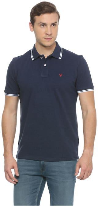 Allen Solly Men White Regular fit Cotton Polo collar T-Shirt - Pack Of 1