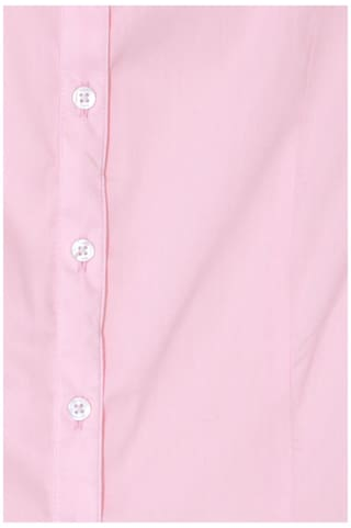 Pink Regular Shirt Solid Cotton Fit Blend Formal Solly Allen RtwBqpxR6