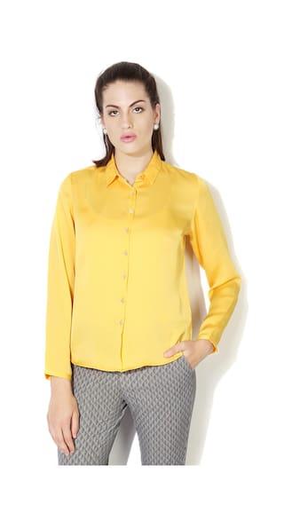 Allen Solly Yellow Shirt
