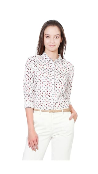 Casual Solly Casual shirts White Cotton Regular Allen PqXwn