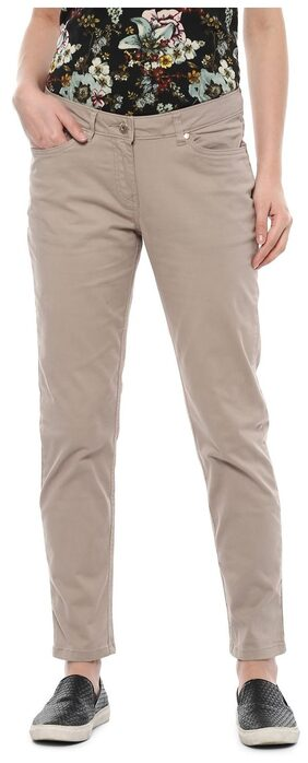 Allen Solly Beige Casual Pants