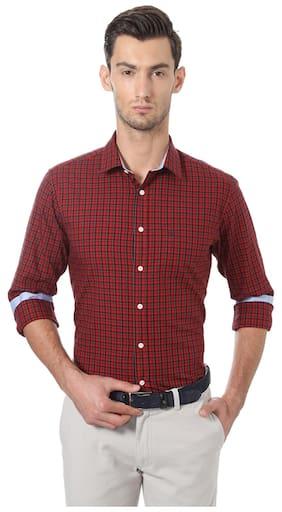 Allen Solly Men Slim Fit Formal Shirt - Red