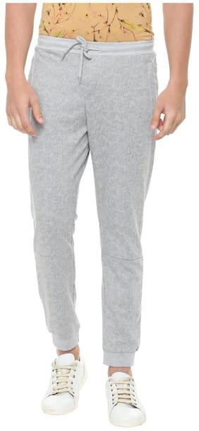 Allen Solly Men Polyester Track Pants - Grey