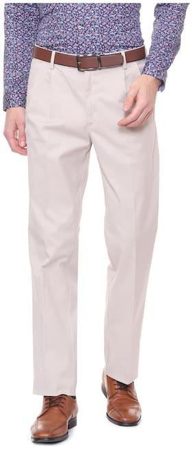 Men Regular Fit Formal Trouser Pack Of 1