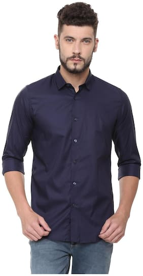 Men Slim Fit Solid Casual Shirt Pack Of 1