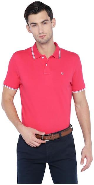 Allen Solly Men's Polo T-Shirt - Pink