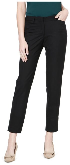 Allen Solly Black Trousers