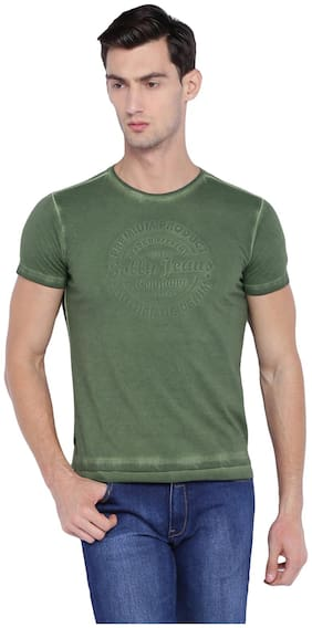 Men Round Neck Solid T-Shirt Pack Of 1
