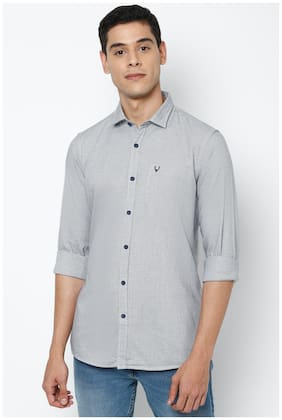 Men Regular Fit Textured Casual Shirt