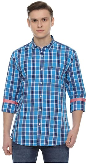 Men Slim Fit Checked Casual Shirt Pack Of 1