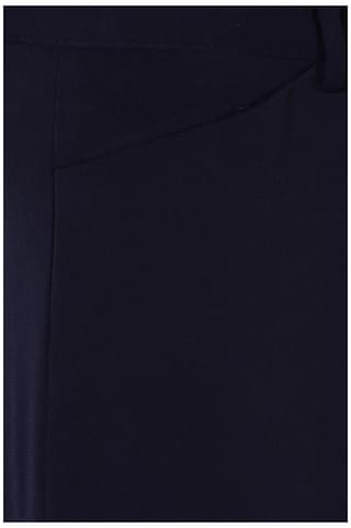 Business Polyester Fit Heusen Regular Navy Solid Trouser Casual Van fpBwq
