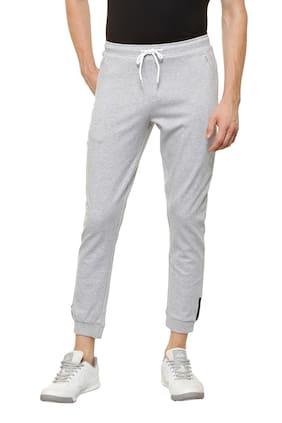 Allen Solly Men Poly Cotton Track Pants - Grey