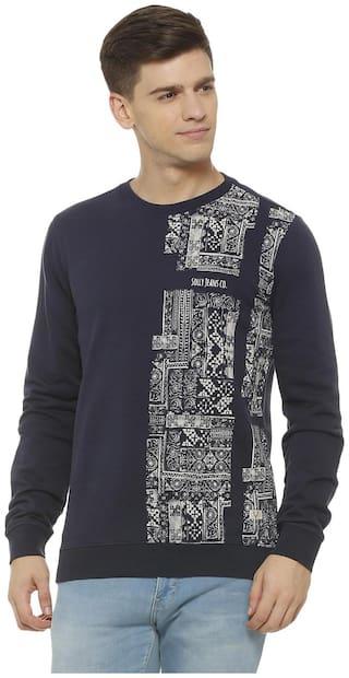 Allen Solly Men Blue Round neck Sweatshirt