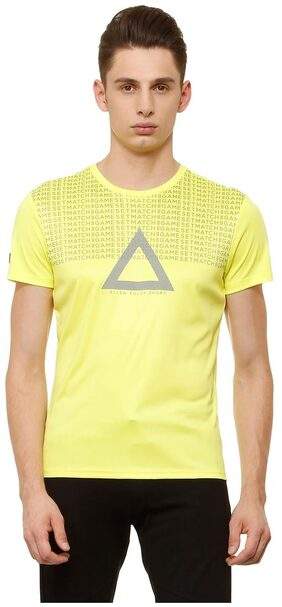 Allen Solly Yellow Wimbledon T Shirt