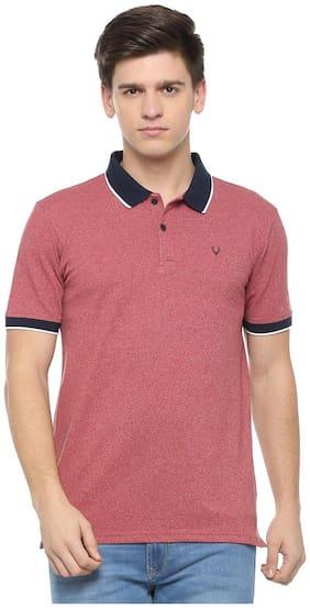 Men Polo Collar Self Design T-Shirt Pack Of 1