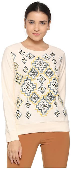 Women Embroidered Sweatshirt ,Pack Of 1
