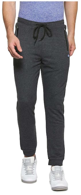 Allen Solly Men Poly Cotton Track Pants - Grey