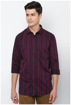 Men Slim Fit Vertical Stripes Casual Shirt