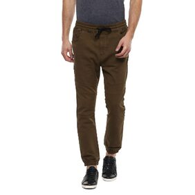 Allen Solly Brown Jogger Jeans