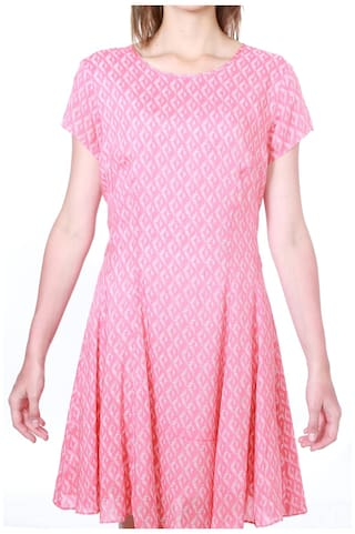 Pink Regular Dresses Solly Allen Modal xwXOxf