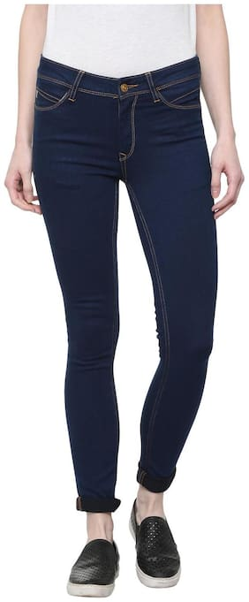 Allen Solly Women Regular Fit Mid Rise Washed Jeans - Blue